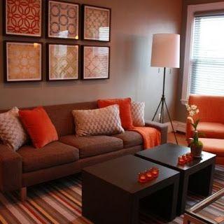 Decoracion de un salon qu colores combinan con el marron - Colores que combinan con el marron ...